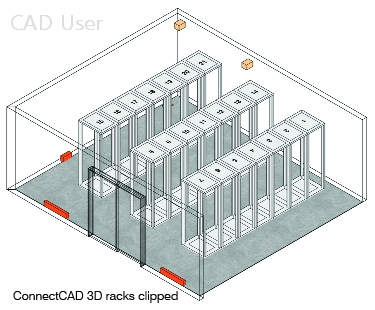 connectCAD 3D racks clipped